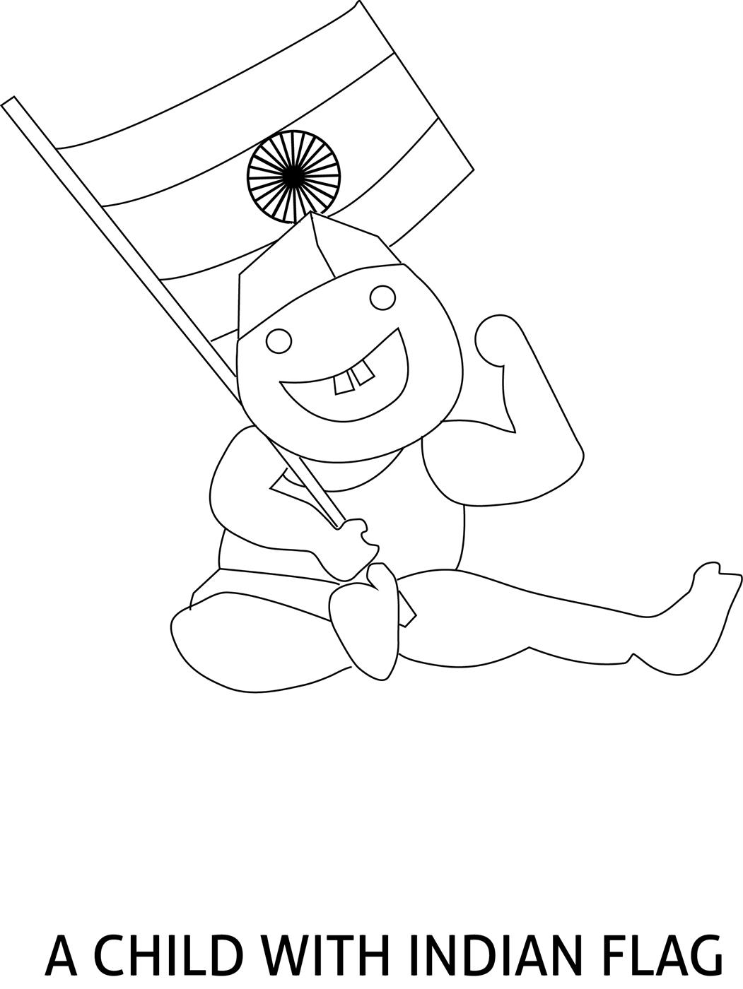 1051x1400 Republic Day Of India Coloring Page