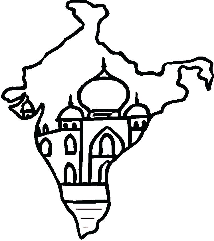 750x844 India Coloring Page Coloring Pages Great Coloring Pages For Kids