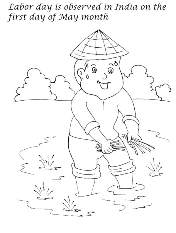 600x792 India Coloring Pages First Day Of May Month Is Labor Day