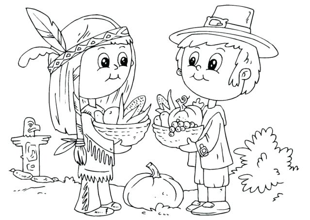 639x453 Pilgrim And Indian Coloring Pages And Pilgrim Native Coloring Page