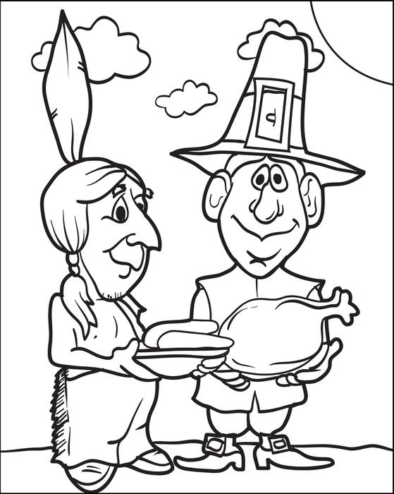 559x700 Free Printable Pilgrim Coloring Pages For Kids