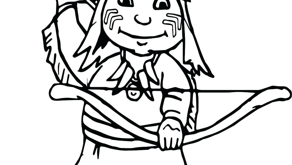 Indian And Pilgrim Coloring Pages At Getdrawings Com Free For