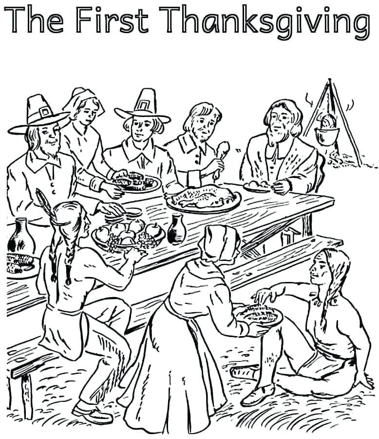 778x900 Indian Color Pages Little Red Girl Thanksgiving Coloring Pages