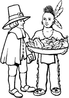 236x334 Thanksgiving Coloring Pages Native American Indian Coloring Pages