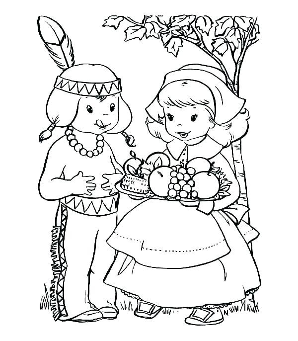 600x686 Thanksgiving Pilgrim Coloring Sheets Printable Thanksgiving Native