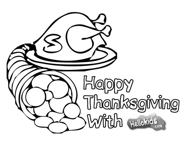 620x480 Thanksgiving Dinner With Indians Coloring Pages
