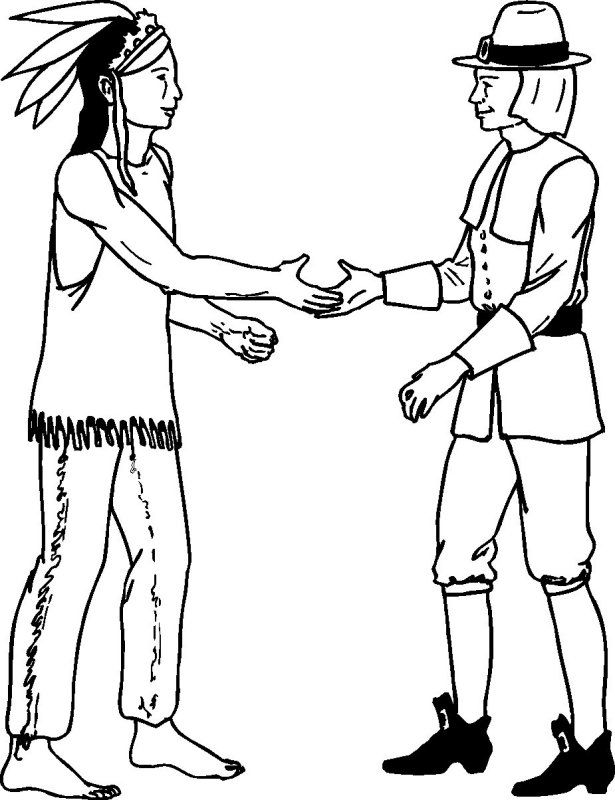 615x800 Native And Pilgrim Color Thanksgiving For Children, Teens