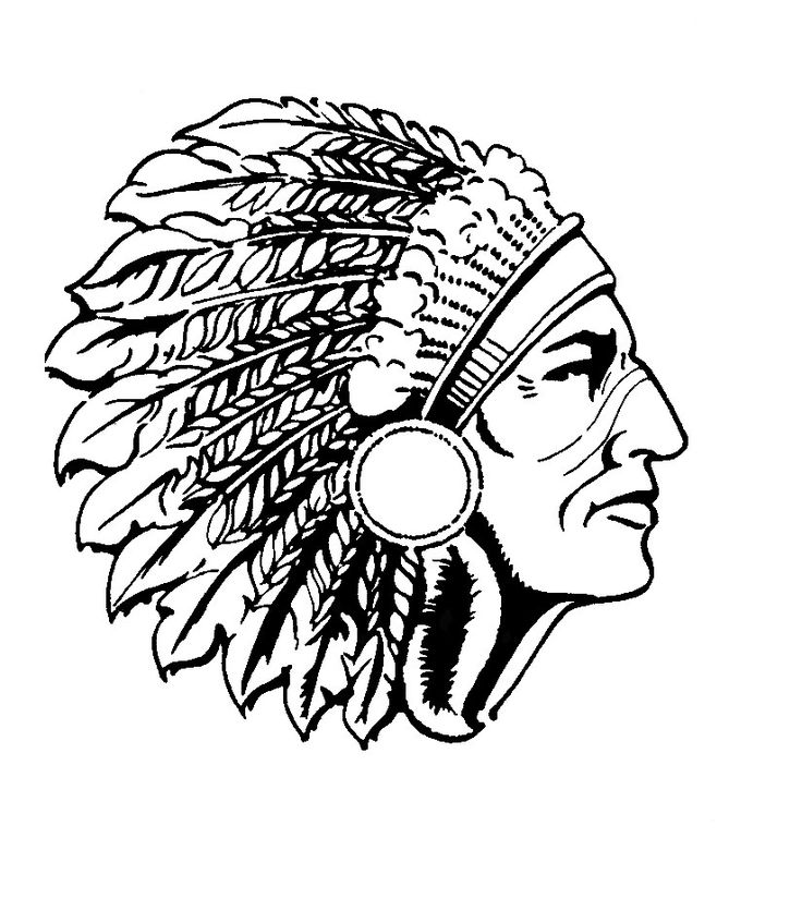 Indian Chief Coloring Page