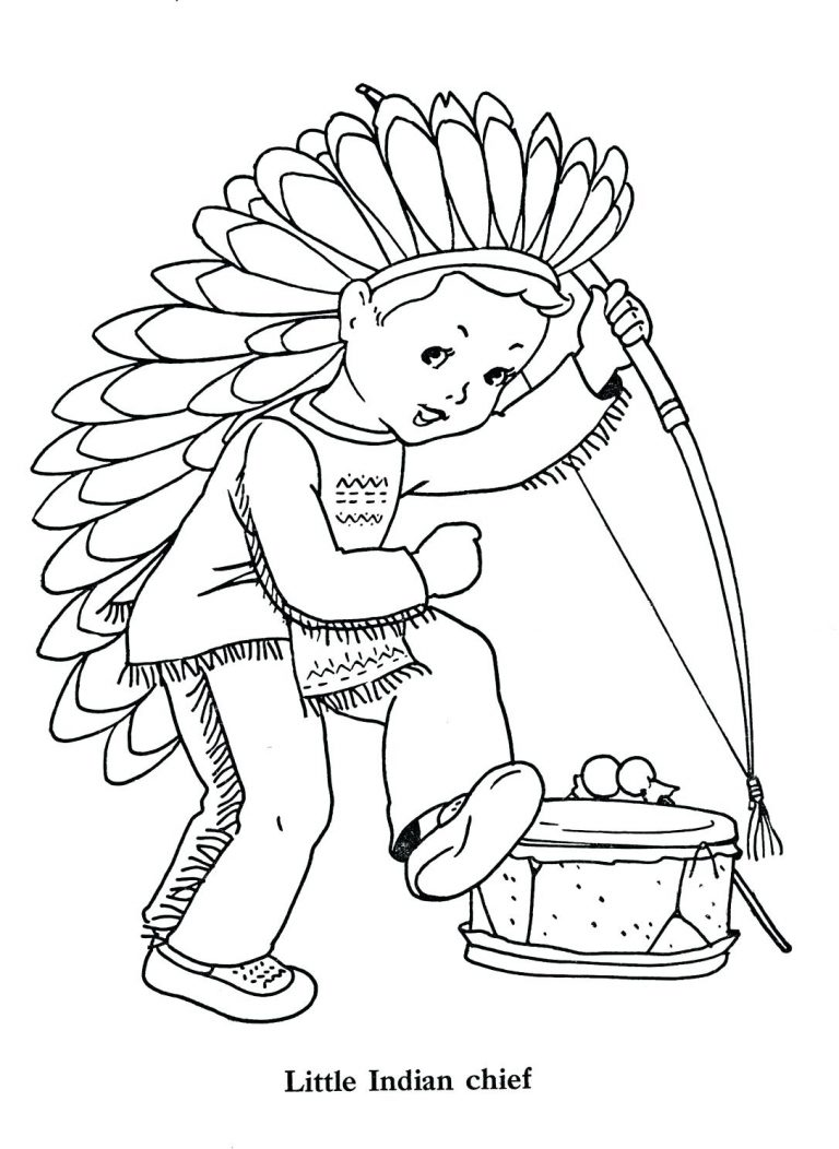 768x1052 Coloring Page Of Indian Boy Best Chief Clip Art Little