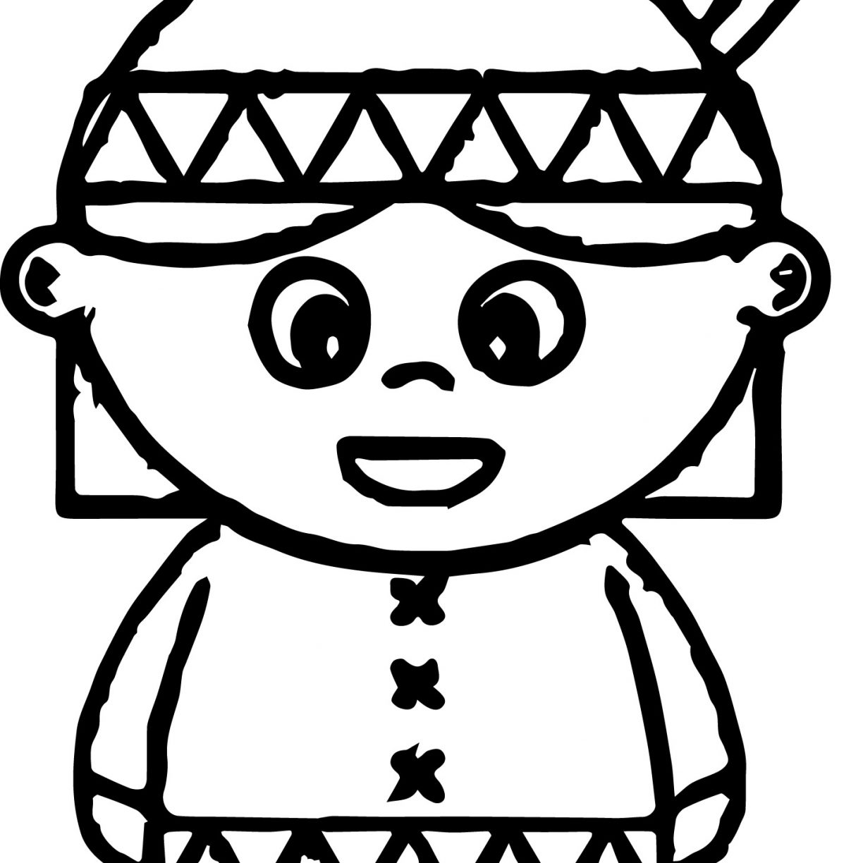1224x1224 American Indian Cartoon Boy And Girl Coloring Page Free Printable