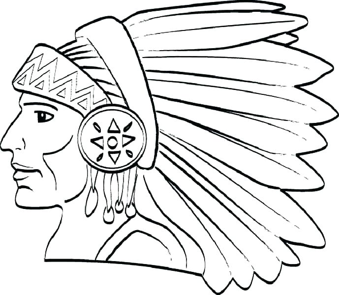 689x600 American Indian Coloring Pages
