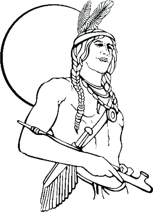 600x832 Indian Coloring Pages