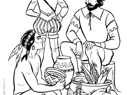 440x330 American Indian Coloring Pages Native Chief Headdress Free Native