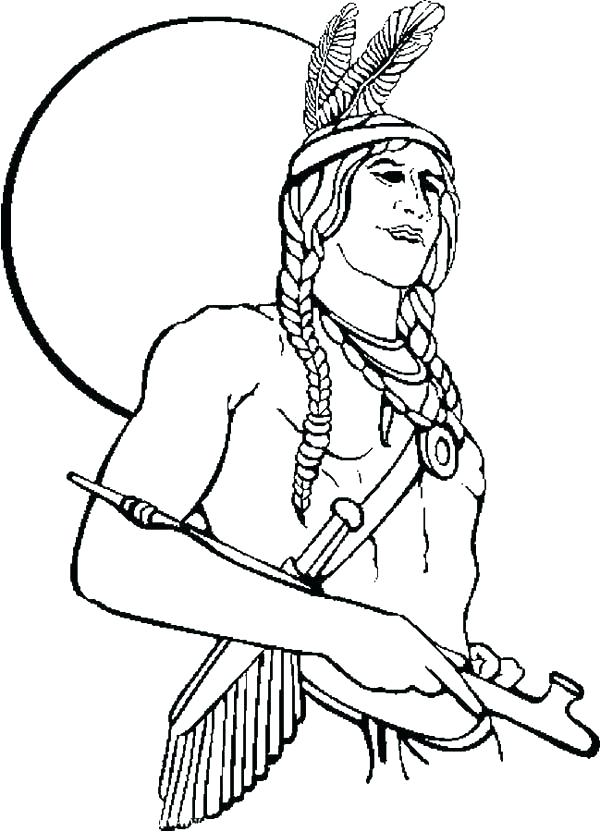 600x832 American Indian Coloring Pages North Coloring Page With Coloring