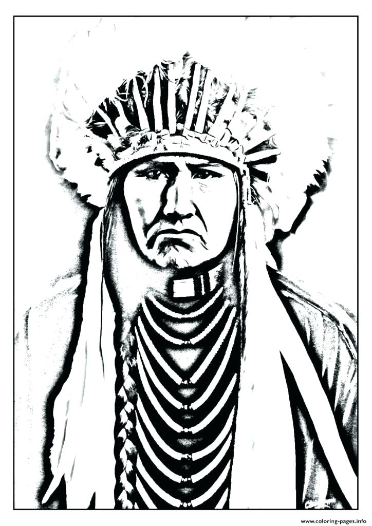 724x1024 Free Native American Indian Coloring Pages