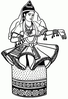 236x341 Great Website With Tons Of Indian Folk Dance Coloring Pages