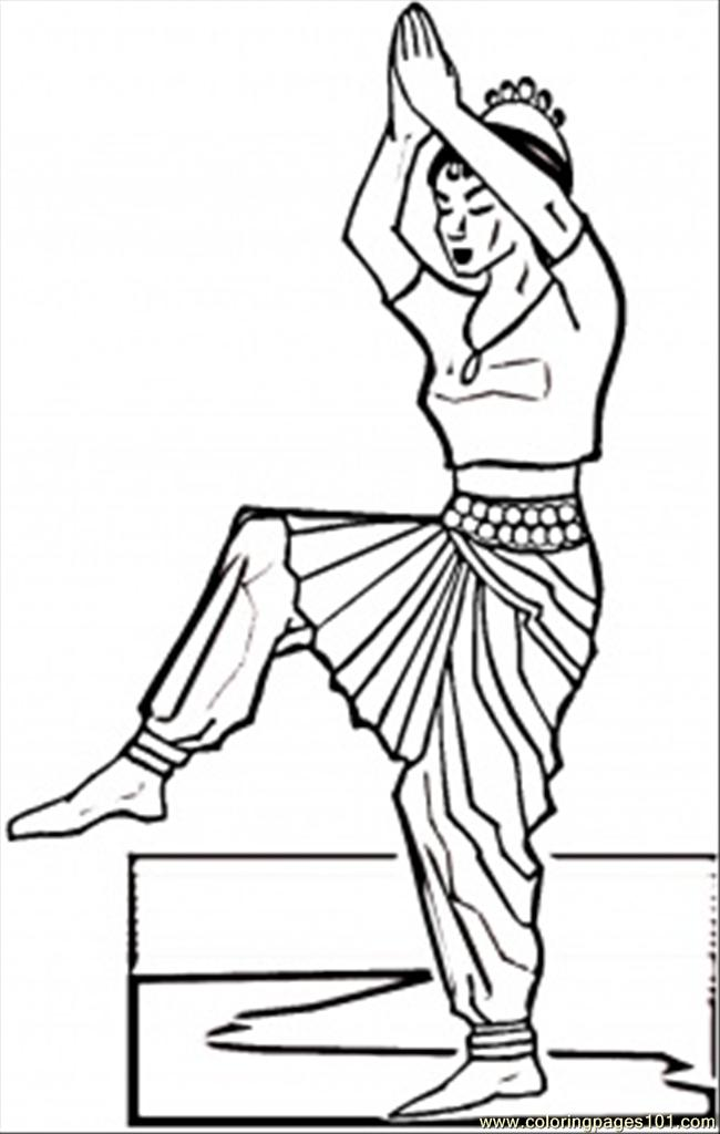 650x1024 Indian Dance Coloring Page