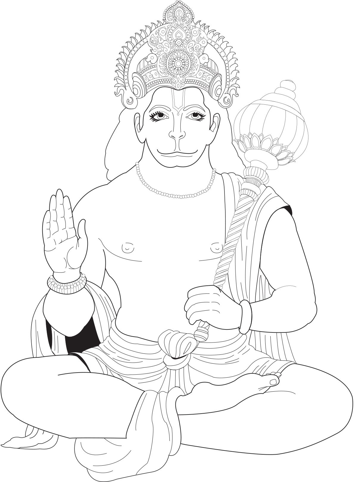 1189x1621 Shocking Hanuman U Bollywood Coloring Pages For Adults Justcolor