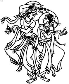 236x289 Bharatanatyam Dance Techniques' Classical Indian Dance Coloring
