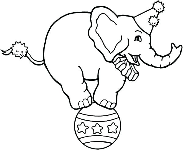 600x490 Elephant Coloring Pages The Elephant Coloring Page Free Elephant