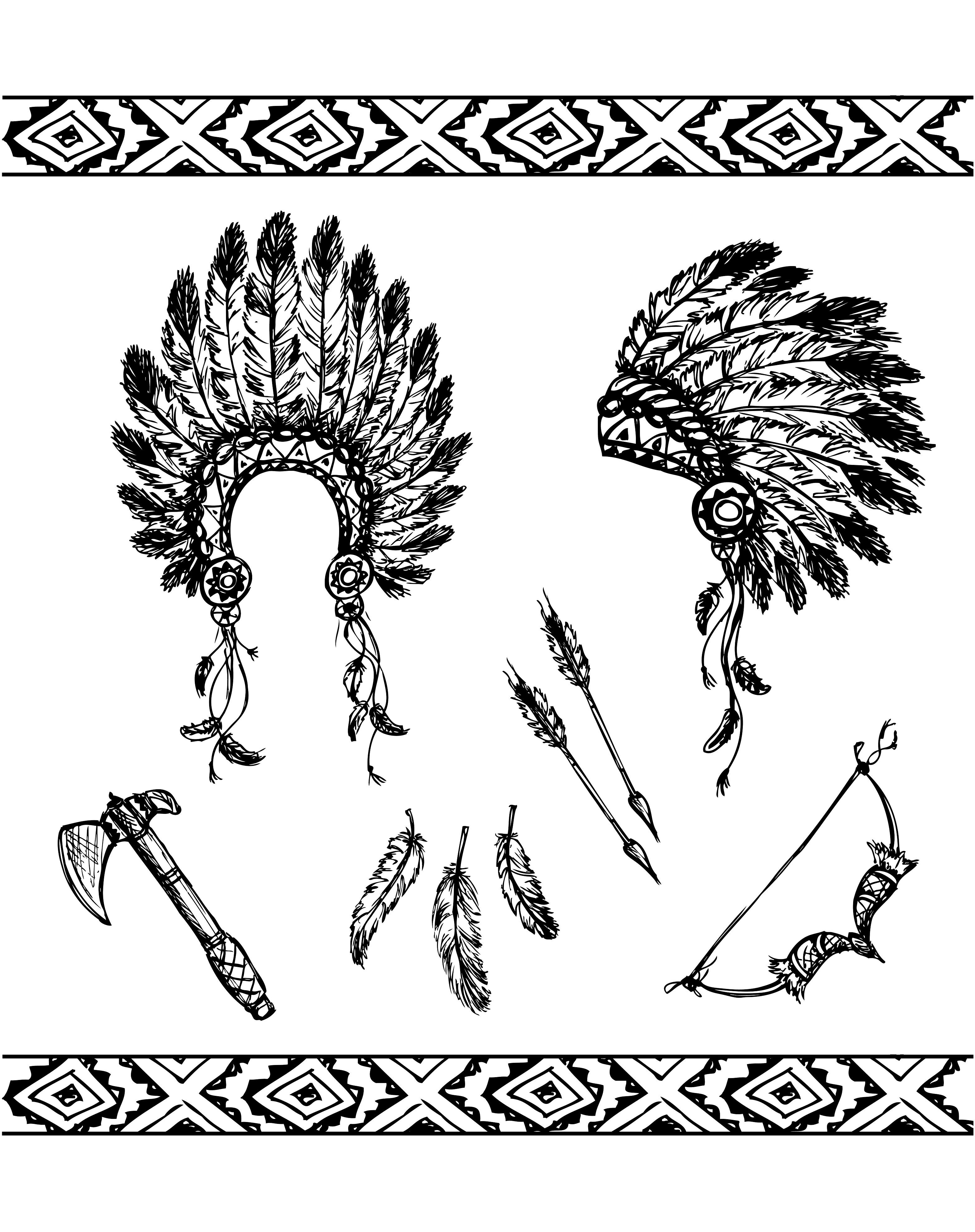 3128x3954 Free Coloring Page Coloring Adult Native American Symbols