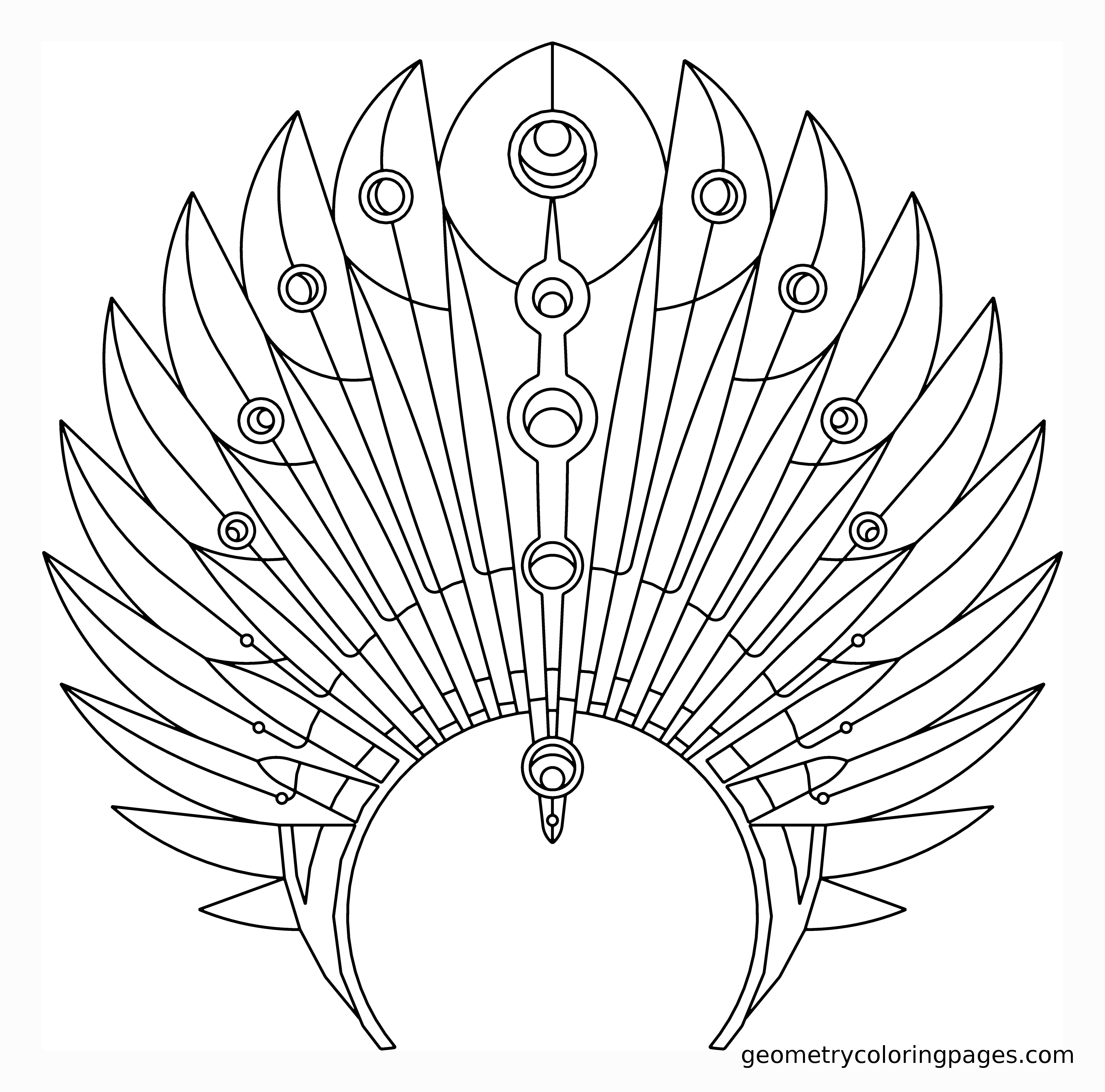 3300x3262 Coloring Page, Headdress