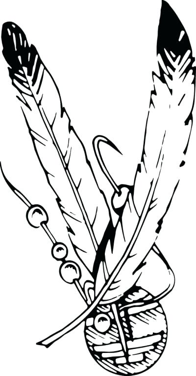 400x766 Indian Feathers Coloring Page