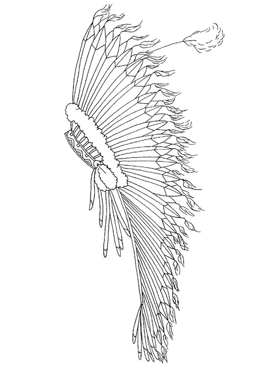 531x750 Coloring Page Feather Headdress