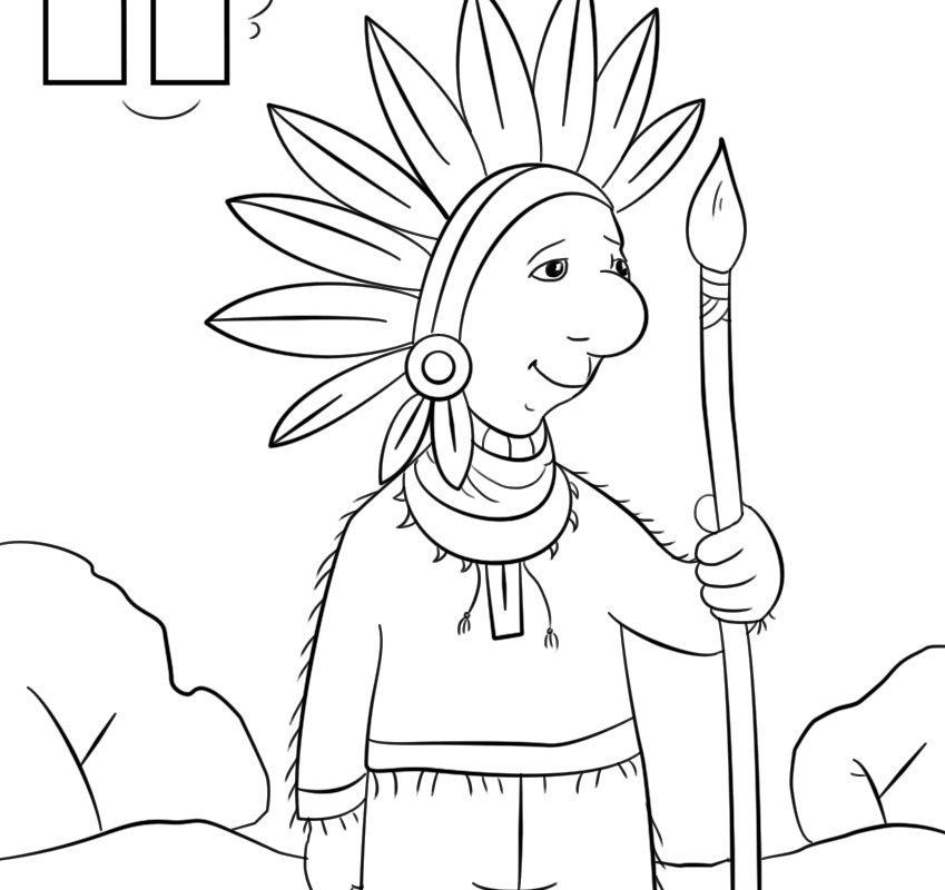 849x800 Free Coloring Page Adult Indians Keeping Printable Indian Pages