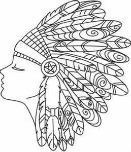 258x300 Indian Headdress Coloring Page