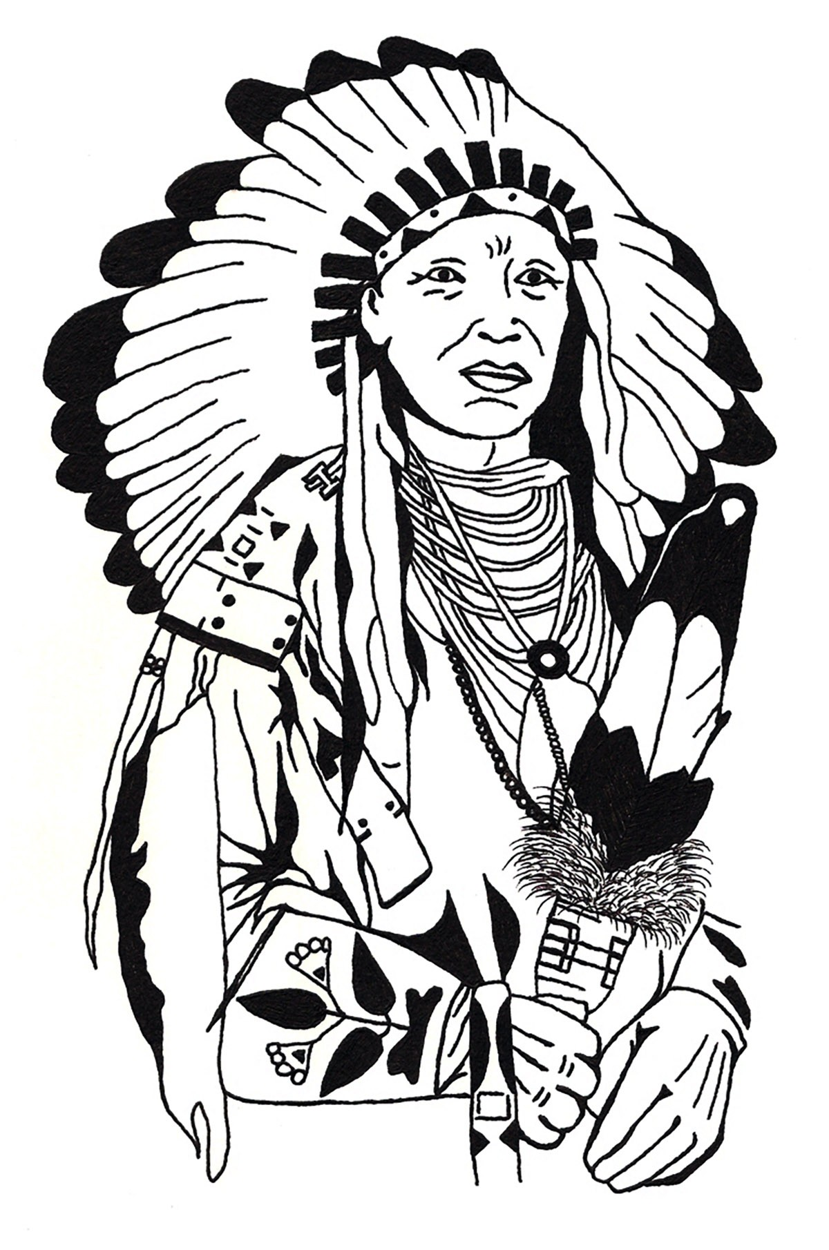 1200x1810 Native American Coloring Pages Beautiful Indian Headdress