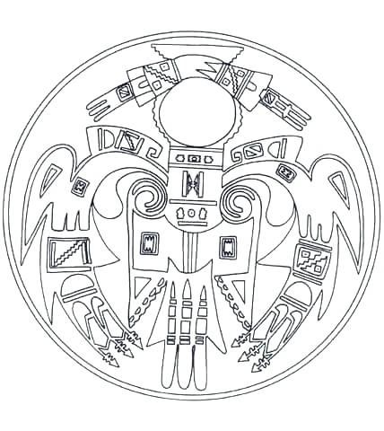 428x480 Indian Coloring Page Page Coloring Pages Pictures Indian Mandala
