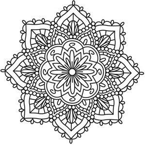 Indian Mandala Coloring Pages At Getdrawingscom Free For Personal