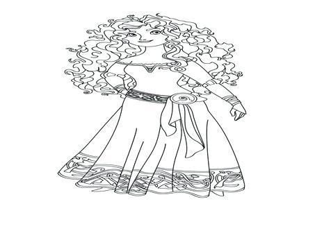 476x333 Brave Coloring Page Finding Coloring Pages Brave Princess Coloring