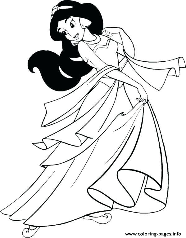 599x768 Coloring Sheet Dress Princess Jasmine Coloring Page Jasmine
