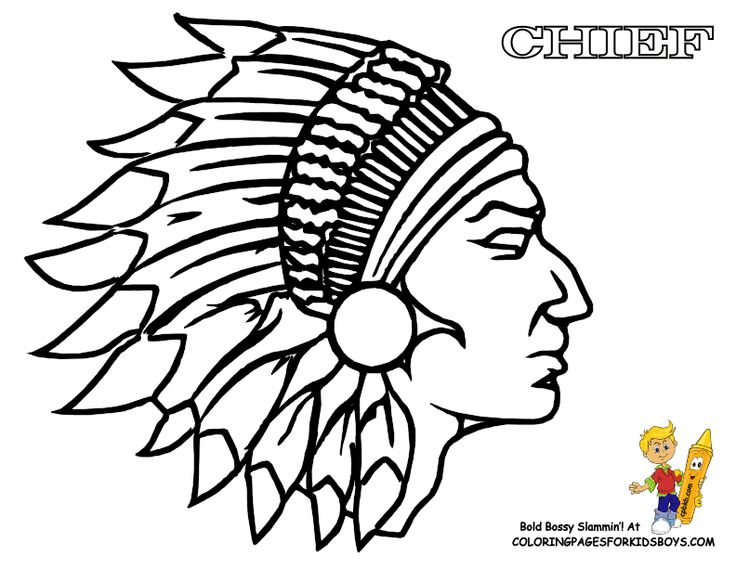 Indian Warrior Coloring Pages
