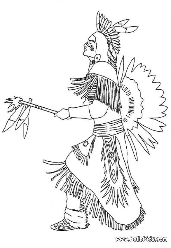 586x850 Indian Chief Coloring Pages