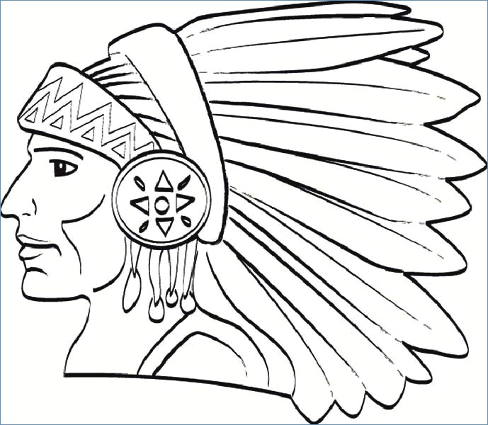 689x600 Native America Indian Horse Coloring Page