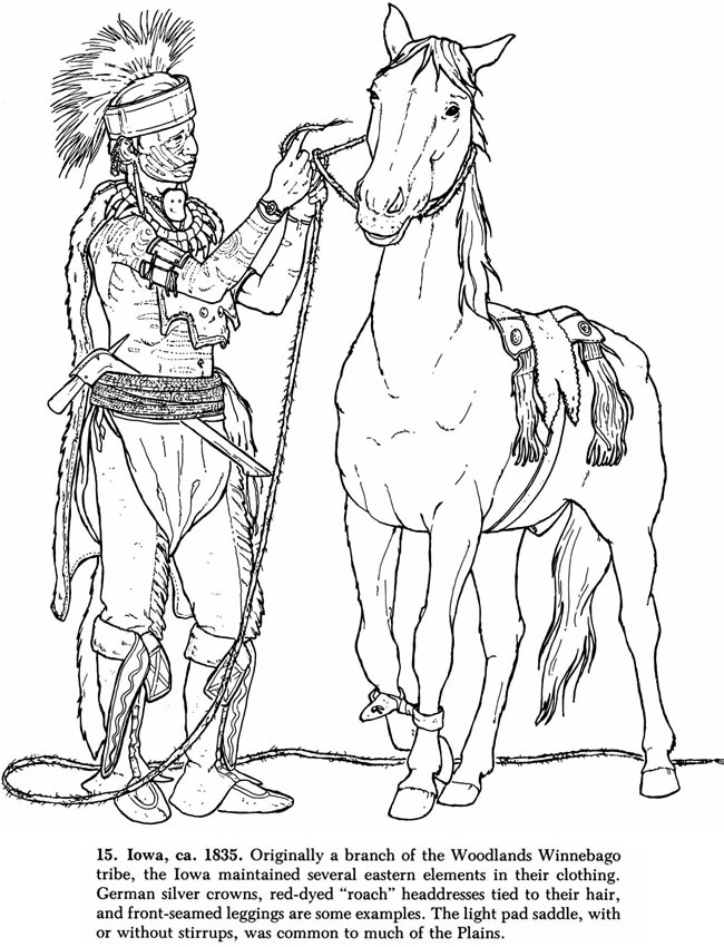 650x850 Native American Winnebago Warrior And Horse Coloring Pages