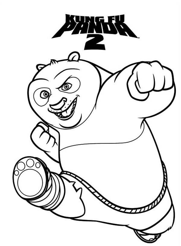 600x812 Amazing Dragon Warrior Of Kung Fu Panda Coloring Page