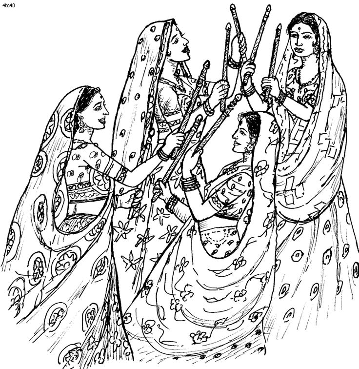 736x756 Festival Clipart Indian Folk Dance