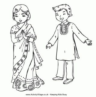 320x322 India Colouring Pages Art For Kids India