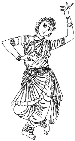 250x472 Sareeindian Girl Coloring Page Coloring