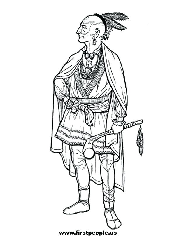 638x826 American Indian Coloring Pages