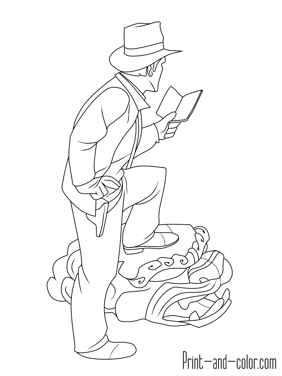 900x1200 Indiana Jones Coloring Pages Print