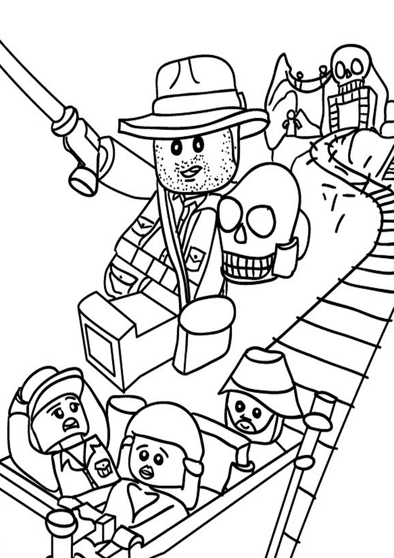 794x1123 Indiana Jones Coloring Pages