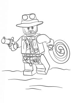 236x340 Lego Coloring Pages Lego Indiana Jones Coloring Page Cartoon Jr
