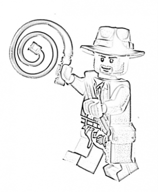 319x388 Lego Indiana Jones Colouring Pages