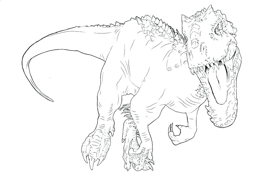 1024x668 Indominus Rex Coloring Pages To Print T Coloring Page T Coloring T