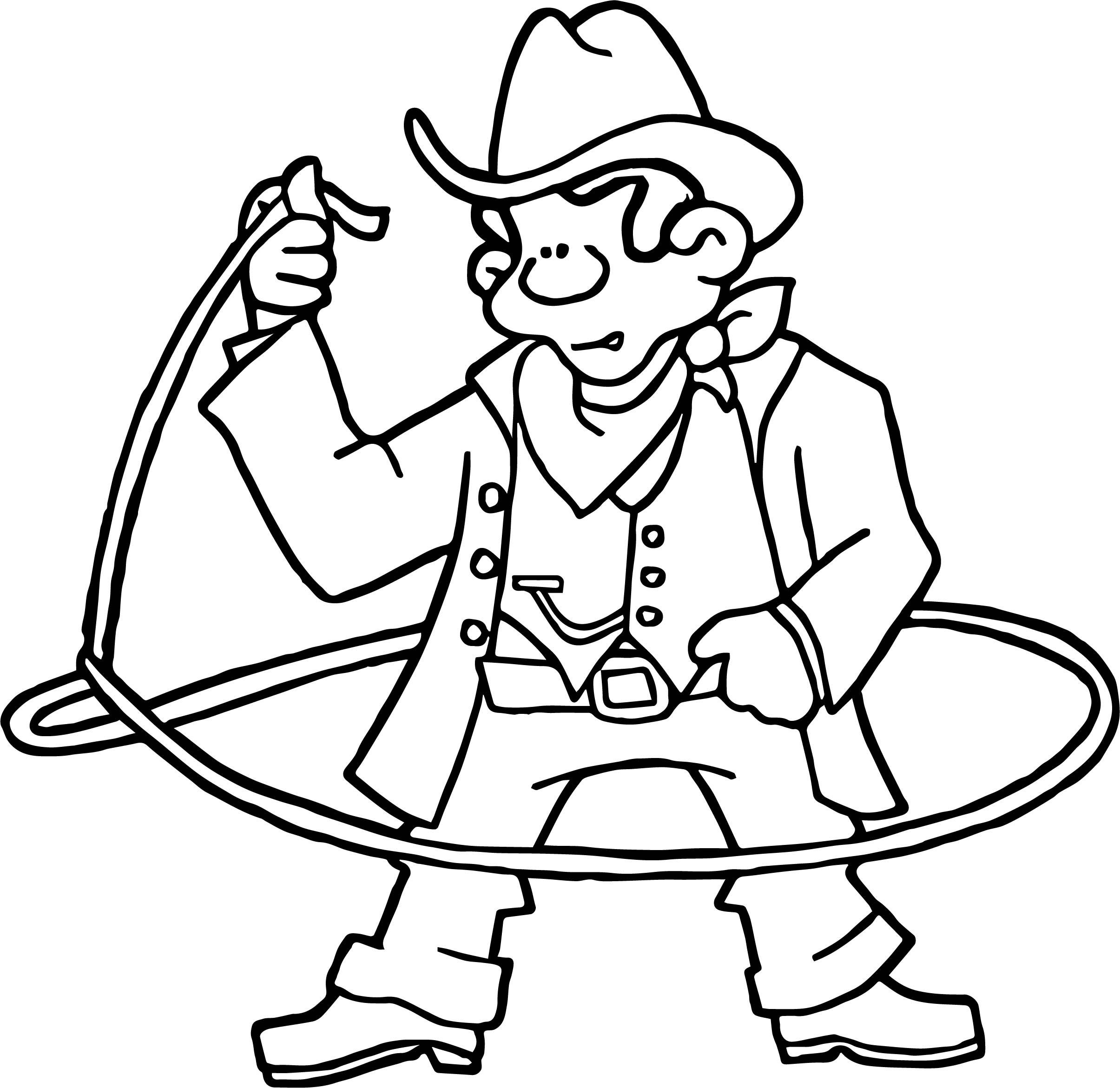 2410x2341 Cowboy Coloring Pages
